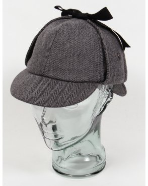 80s Casual Classics Classic Deerstalker Houndstooth Hat Herringbone