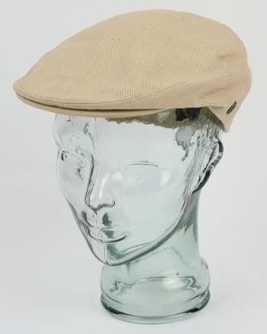 80s Casual Classics Cotton Flat Cap Beige