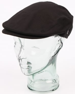80s Casual Classics Cotton Flat Cap Black