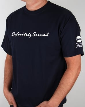 80s Casual Classics Definitely Casual T-shirt Navy