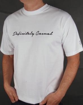 80s Casual Classics Definitely Casual T-shirt White