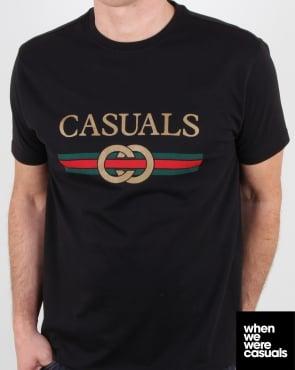 80s Casual Classics Designer Casual T Shirt Black