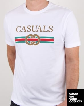 80s Casual Classics Designer Casual T Shirt White