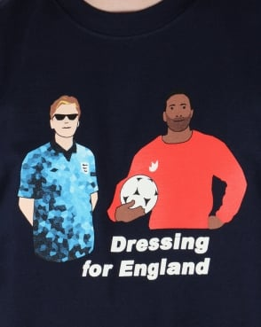 80s Casual Classics Dressing For England T-shirt Navy