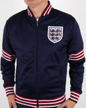 80s Casual Classics England 1974 Track Top Navy