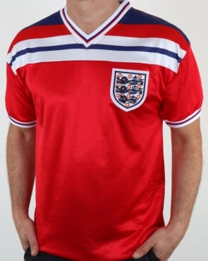 80s Casual Classics England 1982 Retro Football Away Shirt Red