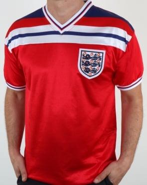 80s Casual Classics England 1982 Retro Football Away Shirt Red