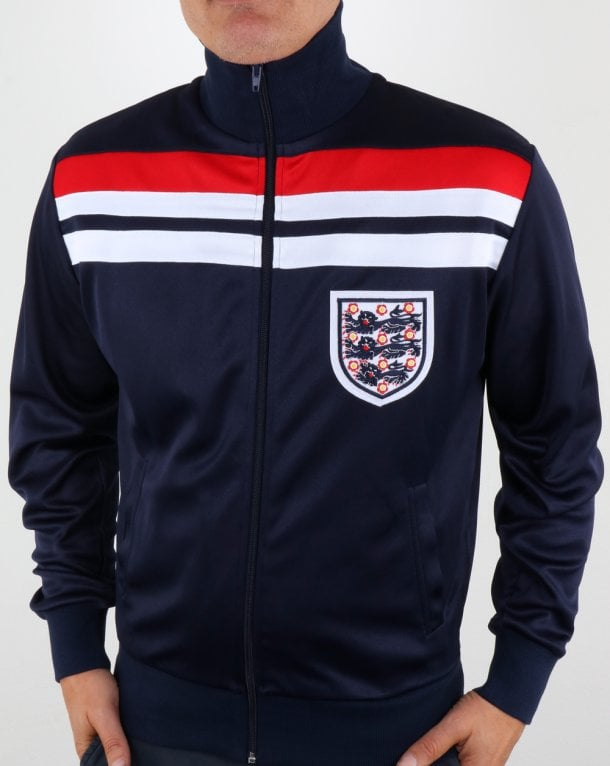 80s Casual Classics England 1982 Track Top Navy