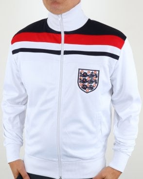 80s Casual Classics England 1982 Track Top White