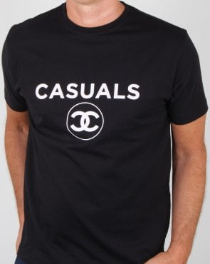 80s Casual Classics Fashion Casual T Shirt Black
