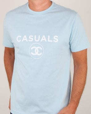 80s Casual Classics Fashion Casual T Shirt Sky Blue