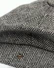 80s Casual Classics Herringbone Newsboy Cap Grey