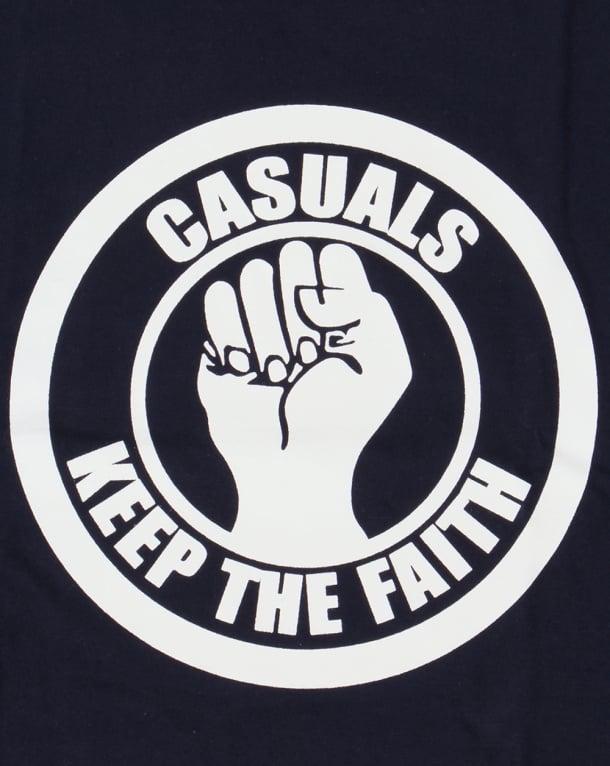 80s Casual Classics Keep The Faith T-shirt Navy