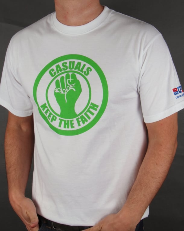 80s Casual Classics Keep The Faith T-shirt White/Green
