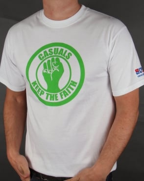 80s Casual Classics Keep The Faith T-shirt White/Green
