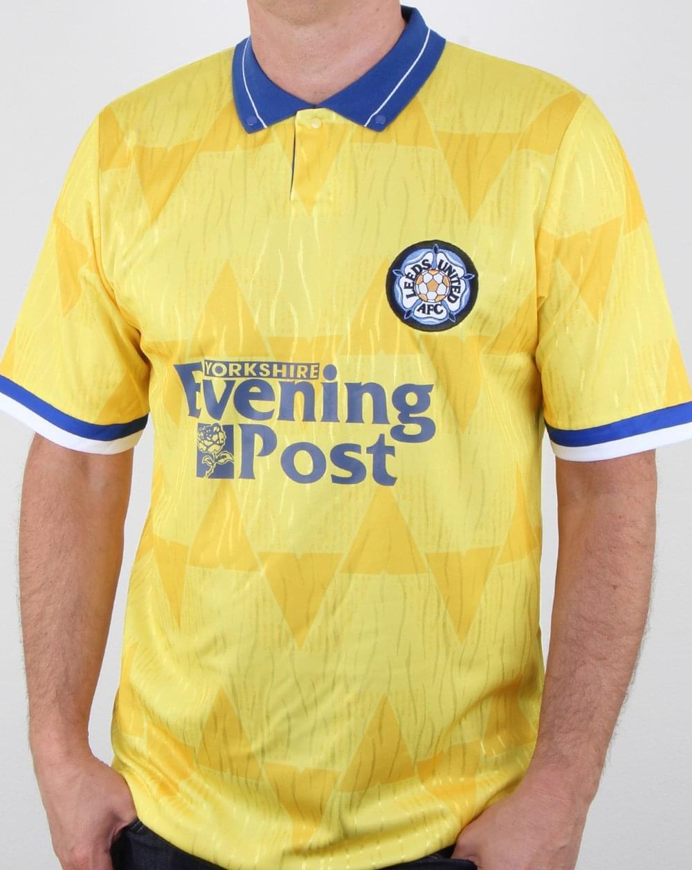 80s Casual Classics 80s Casual Classics Leeds 1992 Away Retro Shirt Yellow 32f227a05