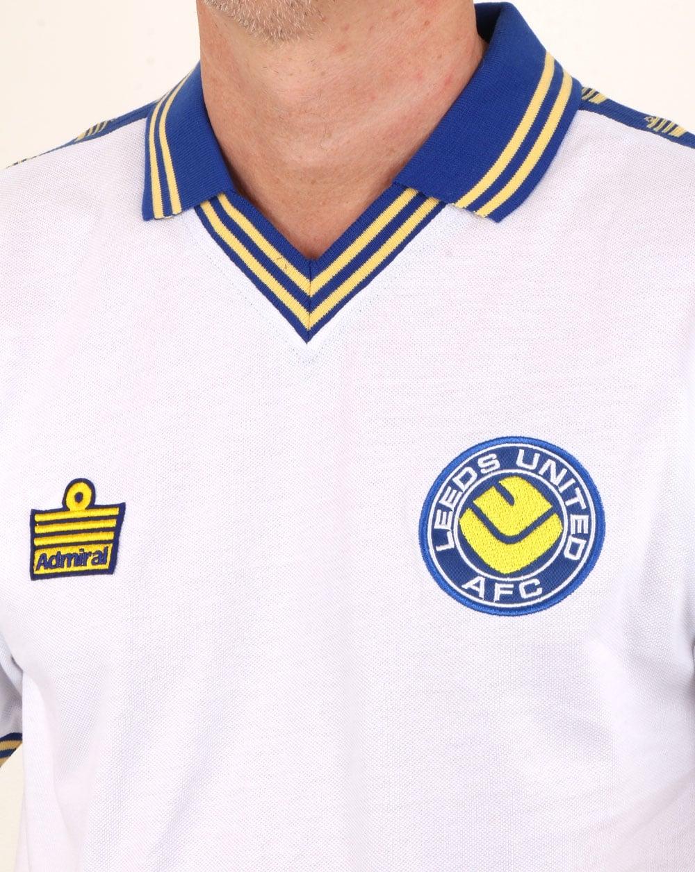 80s Casual Classics Leeds United 1978 Admiral Retro Football Shirt White 28f46d140