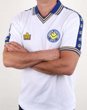 80s Casual Classics Leeds United 1978 Admiral Retro Football Shirt White