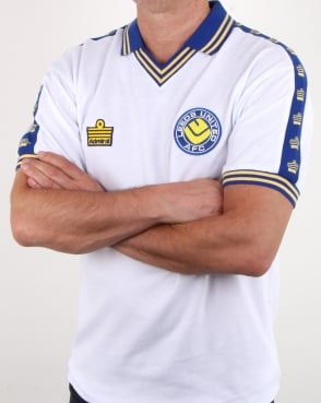 80s Casual Classics Leeds United 1978 Admiral Retro Football Shirt White b0ee36118