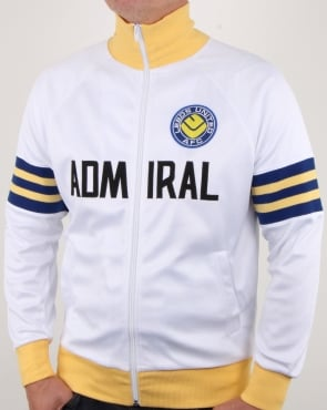 80s Casual Classics Leeds United 1978 Admiral Retro Track Top White
