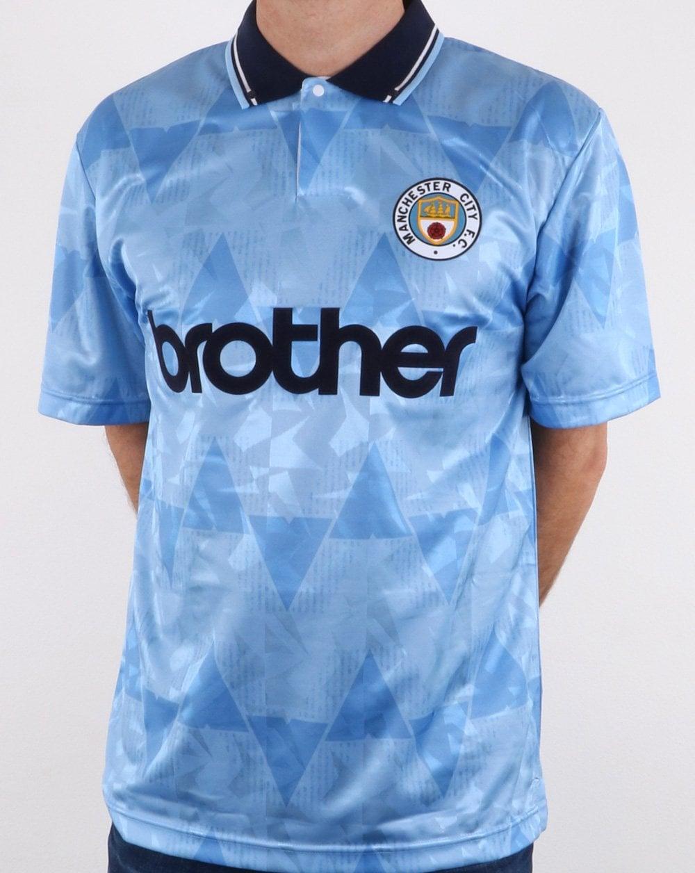 sale retailer 68813 caa55 80s Casual Classics Manchester City 1989 Shirt Sky Blue