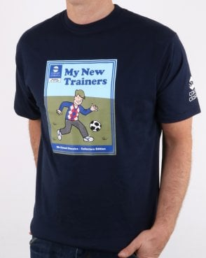 af58ae176a9 80s Casual Classics My New Trainers T Shirt Navy