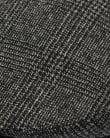 80s Casual Classics Naple Pure Wool Flat Cap Black