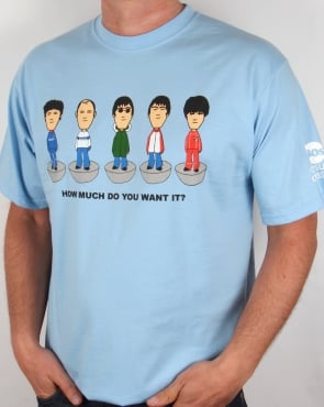 80s Casual Classics Oasis Table Football T-shirt Sky Blue