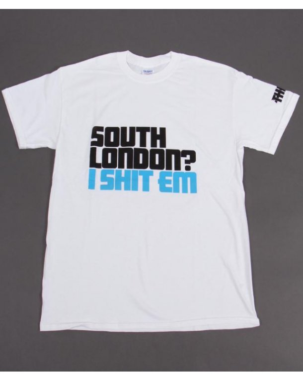 80s Casual Classics South London I Shit Em T-shirt White