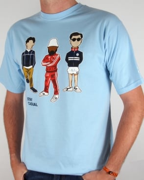 80s Casual Classics Stay Casual Minty T-shirt Sky Blue
