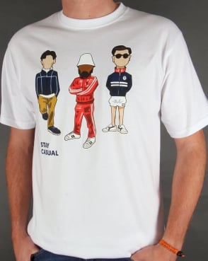 80s Casual Classics Stay Casual Minty T-shirt White