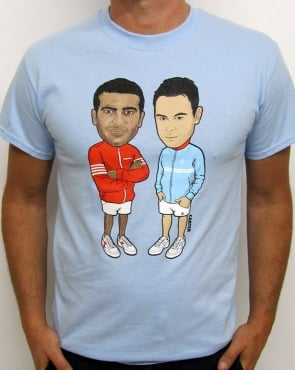 80s Casual Classics The Business Illustration T-shirt Sky Blue