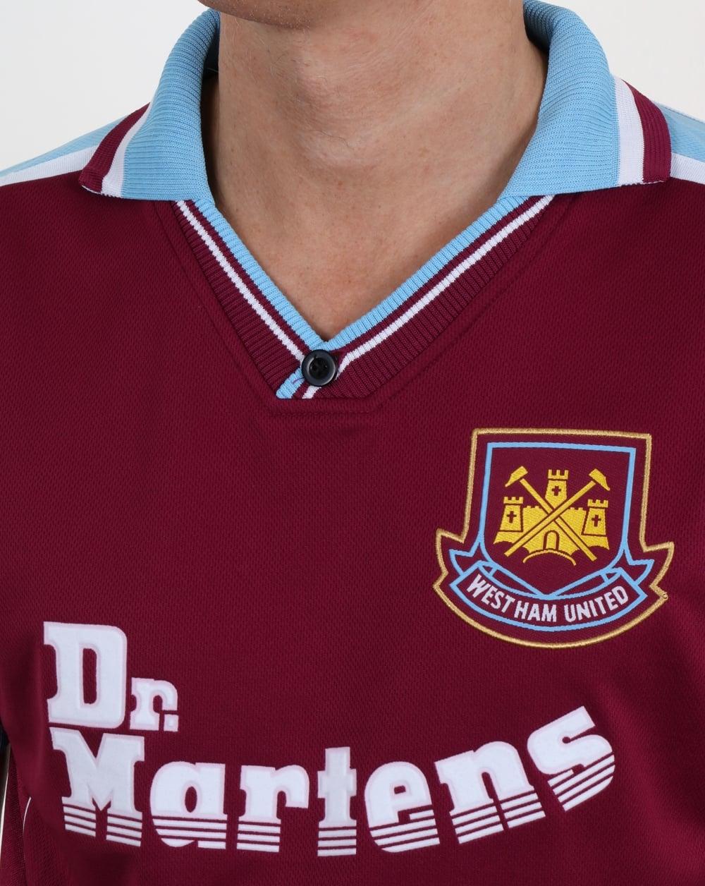 80s Casual Classics West Ham 2000 Retro Football Shirt Claret 2068c4b3c