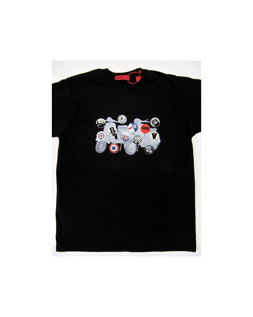 80s Casuals 1979 Mod Design T Shirt Black 80s Casuals T