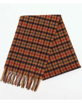 80s Casuals Check Scarf Blue/camel