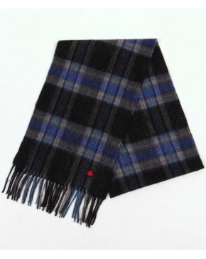 80s Casuals Check Scarf Grey/blue