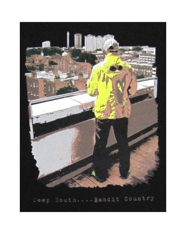 80s Casuals Deep South Bandit Country T-shirt Black