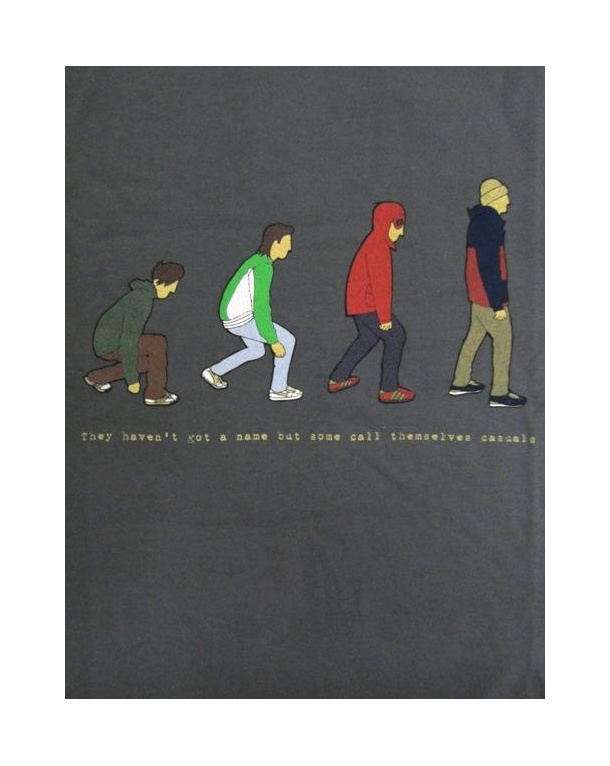 80s Casuals Eighties Evolution T-shirt Charcoal
