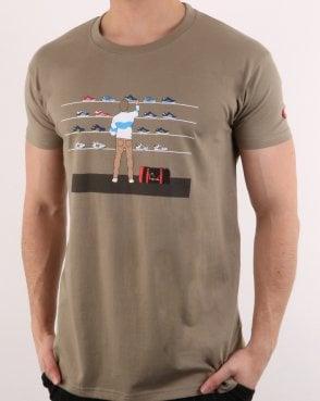 5c704a1c 80s Casuals Eighties Tales Of Train Journeys T Shirt Khaki