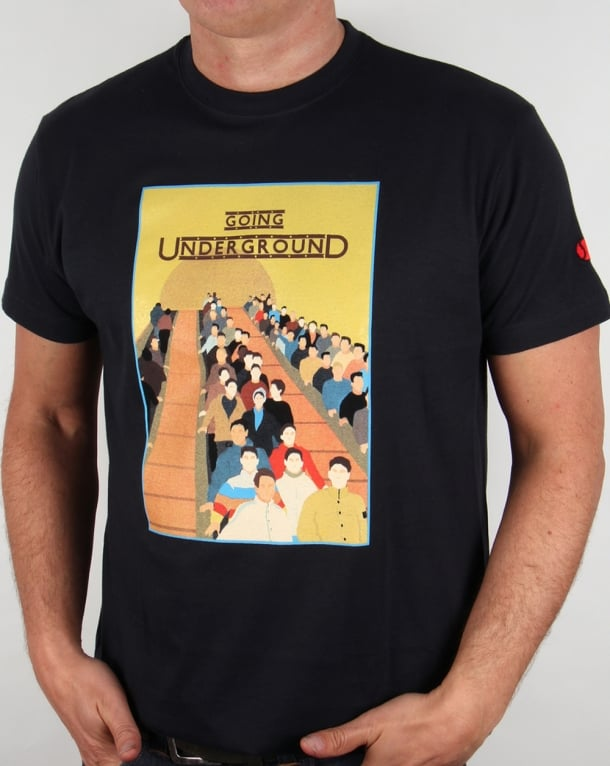 80s Casuals Going Underground T-shirt Dark Navy