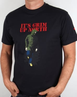 80s Casuals Its Grim Up North T-shirt Black