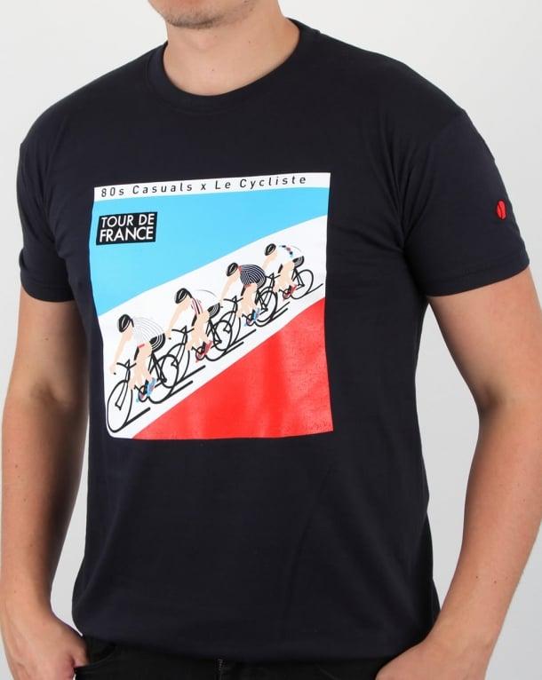 80s Casuals Le Cycliste 1983 Tour T Shirt Navy