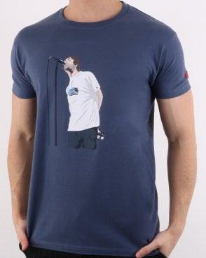 40564969 80s Casuals Liam Manchester T Shirt Denim Blue
