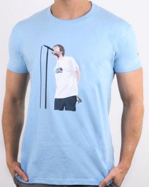 129a2802655 80s Casuals Liam Manchester T Shirt Sky Blue