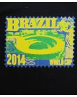 80s Casuals Maracana Stadium Stamp T-shirt Navy