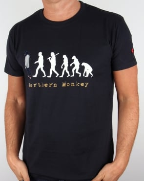 80s Casuals Northern Monkey T-shirt Navy