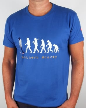 80s Casuals Northern Monkey T-shirt Royal Blue