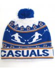 80s Casuals Ski Pom Pom Beanie Royal Blue/white/orange