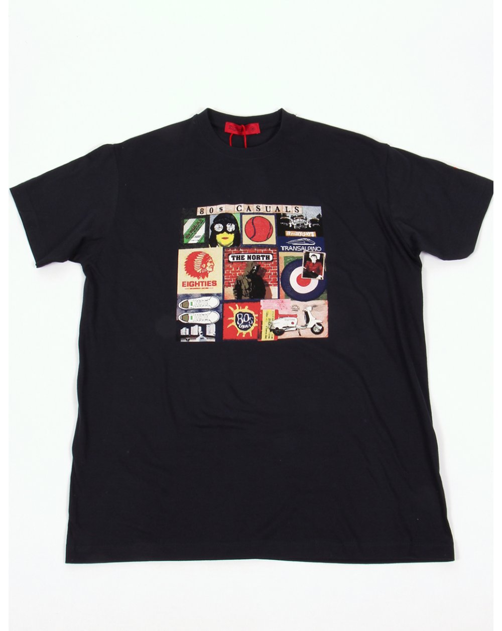 91791aa8 80s Casuals Sources of 80s T shirt Navy Blue