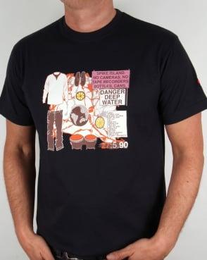 80s Casuals Spike Island T-shirt Navy